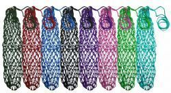 40 Long Slow Feed Hay Net Bag in Bright Green Assorted Colors