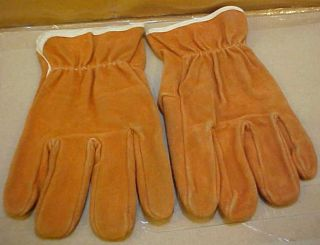 Leather unlined heavy duty work gloves great for deer hunting & Fall
