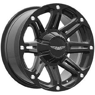 American Eagle 50 20 Black Wheel / Rim 8x6.5 with a 0mm Offset and a