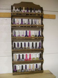 spice rack shot glass makeup nail polish display collectable shelf 13