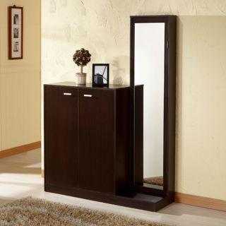 Cutler Coffee Bean Finish Multi functional Shoe Storage Cabinet
