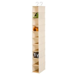 Honey Can do Hanging Bamboo 10 Shelf Shoe Organizer
