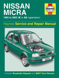 Haynes Workshop Repair Owners Manual Nissan Micra 93 02 Petrol K to 52