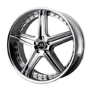 Lorenzo WL019 20x9.5 Chrome Wheel / Rim 5x4.5 with a 35mm Offset and a