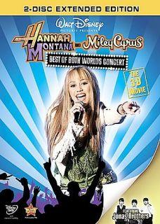 Hannah Montana Miley Cyrus Best of Both Worlds Concert DVD 2008 2 Disc