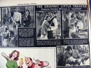 Sept 12 1943 Chicago Tribune Graphic Section WWII Soldier Artists Skip
