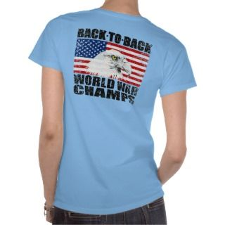 US Flag Eagle World War Champs Distressed T shirt