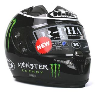 Motorcycle Helmet HJC R PHA10 Ben Spies Monster MC5 Gloss Black