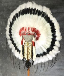 Native American Black Cloud War Bonnet Headdress