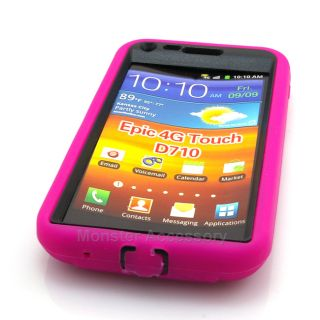 Pink Kickstand Double Layer Hard Case for Samsung Galaxy S2 Sprint