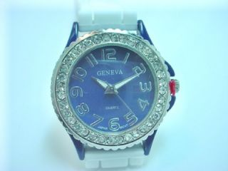 small white and blue color dallas cowboys watch