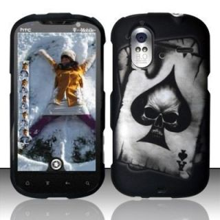 Spade Skull Hard Protector Case Snap on Phone Cover for T Mobile HTC