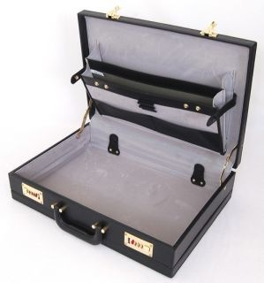 Deluxe Executive Briefcase Attache Case Hard Sided 2 Combination Lock