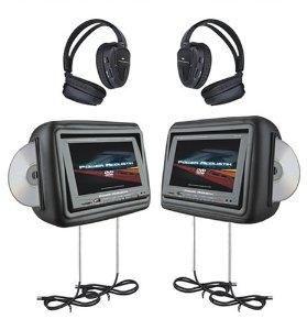 HDVD 9BK 8 8 inch Pre Loaded Universal Headrest Monitors w DVD