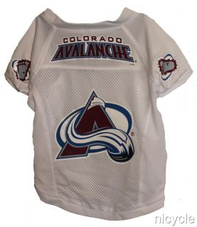 Colorado Avalanche NHL Pet Dog White Jersey Shirt s M L XL
