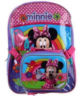 Disney Minnie Mouse Backpack with Detachable Lunchbox Lunch Box