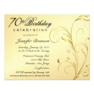 70.as invitaciones elegantes del fiesta de sorpres comunicados