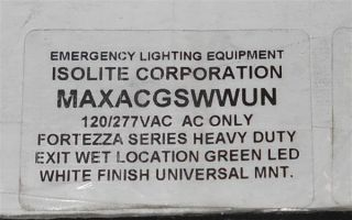 Isolite Max Series Commercial Heavy Duty Extra Wet Emergency Exit Sign