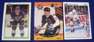 Professional NHL HOCKEY TRADING CARDS Wayne Gretzky, Brett
