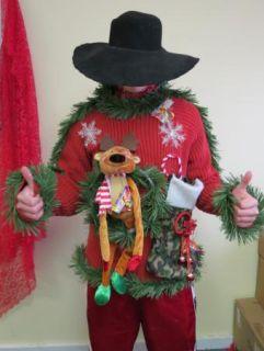 Hillbilly Light Up Ugly Christmas Sweater Party Redneck Hunter L Gun