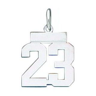 Sterling Silver Small Number 12 Charm Jewelry