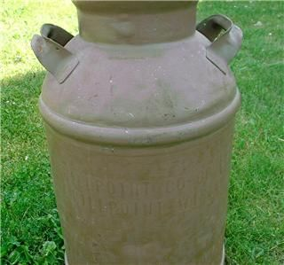 Antique Hillpoint Co Op Cry Creamery Dairy Advertising Steel Milk Can