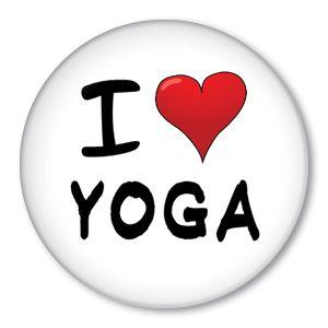 Love Heart Yoga Pin New Button Fitness Mat Workout