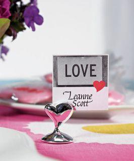 Wedding Swish Heart Place Card Holders