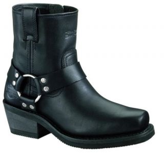 Womens Harley Davidson Blak Harness Zip on Boots 84422