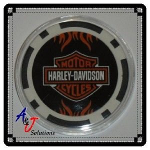 Harley Davidson Poker Card Guard Protector