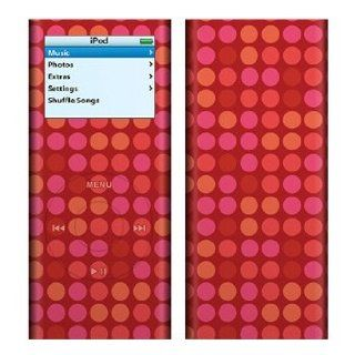 Red Dots Design Decal Skin Sticker for Apple iPod nano 2G