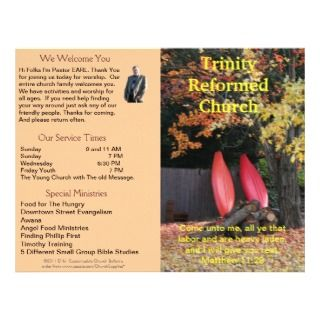 Customizable Weekly Church Bulletin (Outside Only) Customized