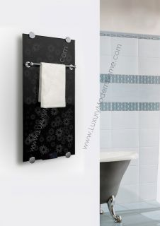 Infrared Radiator Thermal Glass Bathroom Electric Towel Warmer