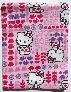 All Pouch Makeup Bag or Kindle Tablet Case Hello Kitty w Flower