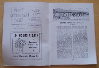 Vermont ER Magazine Oct 1943 Pleasure Riding Otter Creek Fed Trailer