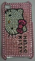 iPhone 4G 4s Blink PINK Cute Hello Kitty Crystal case Big Head