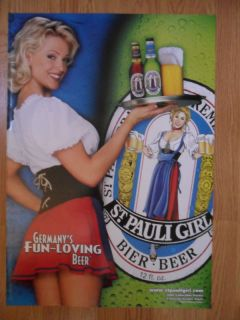 Sexy Girl Beer Poster St Pauli Heather Kozar