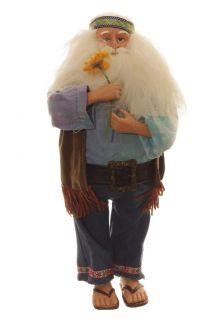Hippie Santa Claus Statue Christmas Figurine Decoration Holiday Decor