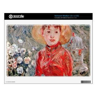 Young girl with cage by Berthe Morisot Skin For Medium Netbook