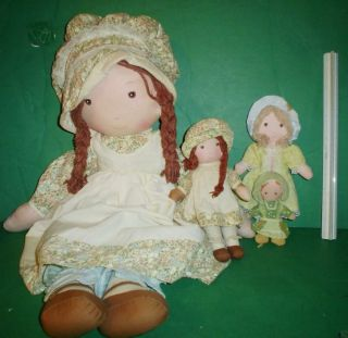 Vintage Holly Hobbie Hobby Rag Doll Lot 26 inch Heather and Others Lot