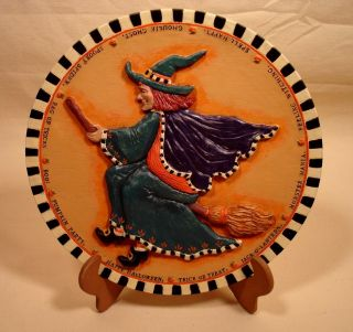 Adler Halloween Kitchen Witch 3D Resin Heavy Display Plate New