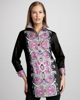 Go Silk Paisley Printed Blouse, Womens