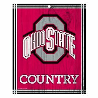 Ohio State Buckeyes 10 by 13 Country Wood Sign Sports & Outdoors