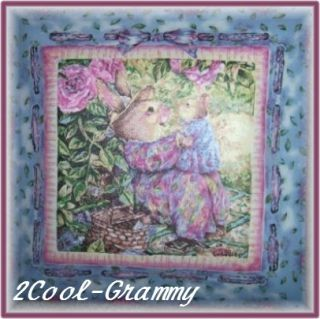 Holly Pond Hill Baby Bunny Rabbit Square Ceiling Light Low VOC