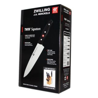 Henckels Twin Signature 7 Piece Knife Set Block Zwilling Knives