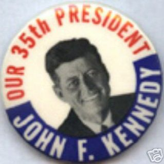 Pin Pinback Button Badge Political John F Kennedy JFK