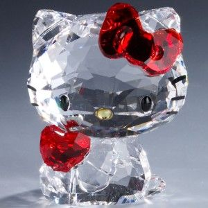 Swarovski Crystal Hello Kitty Red Apple w/Original Box & Certificate