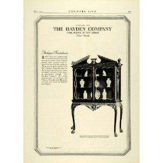 1922 Ad Hayden Antique English Furniture Georgian Mahogany