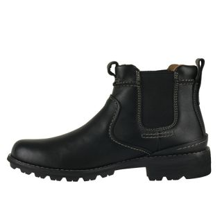 Clarks Mens Ankle Boots Holyoke Black Leather Jodhpur 33752