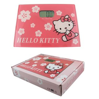 Hello Kitty Glass Electronic Body Weight Floor Scales